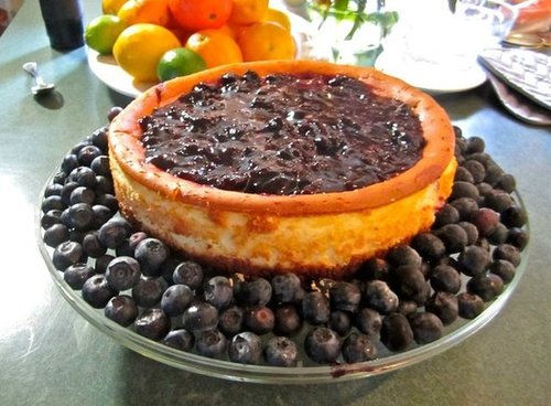 Blueberry Mascarpone Cheesecake