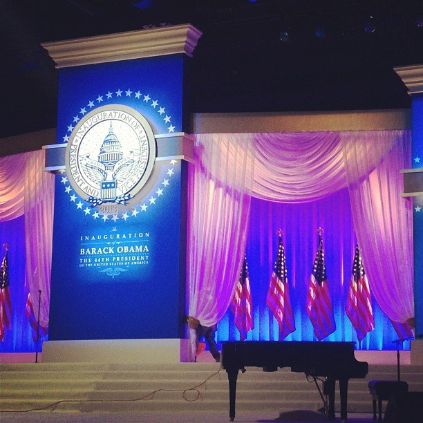 We got a sneak peek of the stage at the Commander in Chief Ball.