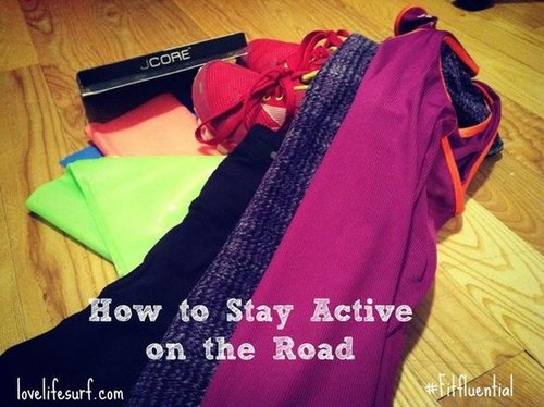 How to stay active while on the road
