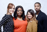Ahna O'Reilly, Octavia Spencer, Melonie Diaz and Michael B. Jordan  were all smiles when promoting Fruitvale.