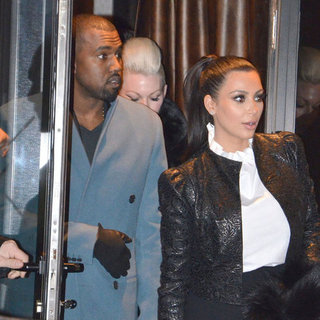 Kim Kardashian and Kanye West at Paris Couture Fashion Week