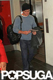 Matt Damon walked through the airport in LA.
