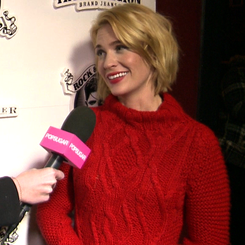 January Jones on Sweetwater Movie at Sundance (Video)