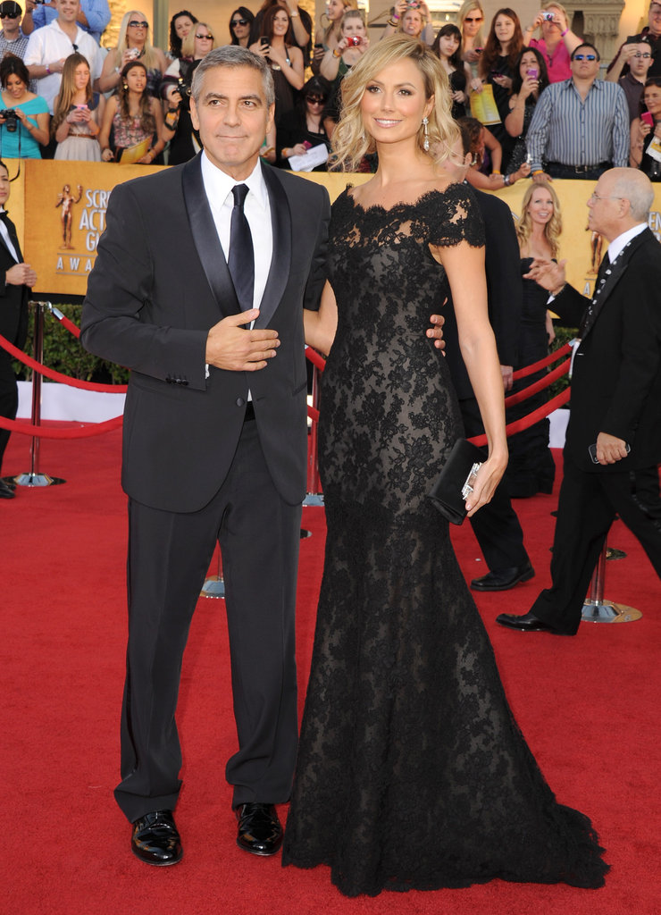 Stacy Keibler opted for a black Marchesa number.