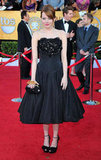 Emma Stone channelled Old Hollywood glamour in Alexander McQueen in 2012.