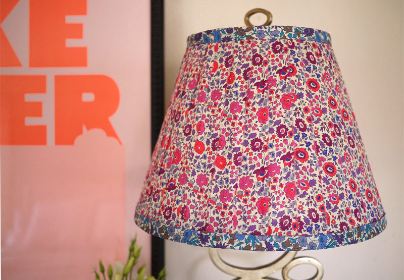 We are loving this floral lampshade, inspired by a visit to Liberty of London. It would also look great with a marimekko print! Source: HonestlyWTF