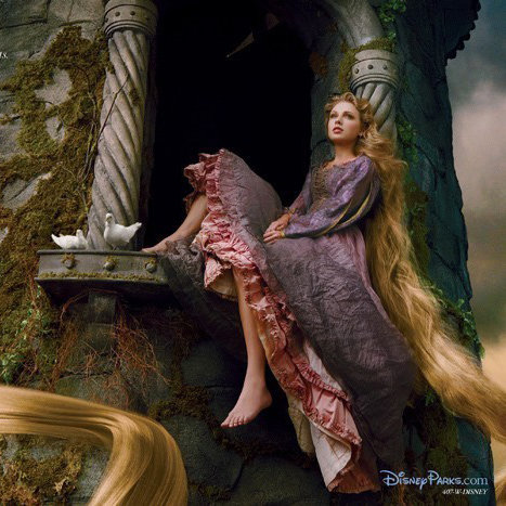 Taylor Swift as Rapunzel in Disney's Tangled