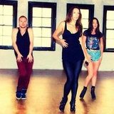 Ricki-Lee Coulter shared snaps from a dance rehearsal. Source: Instagram user therickilee