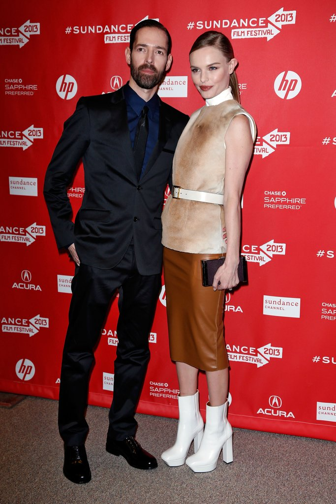 Kate Bosworth posed with Michael Polish at the premiere of their new film Big Sur at the Sundance Film Festival on Wednesday.