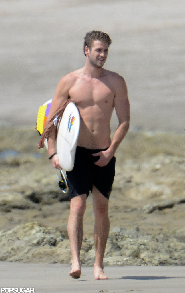 Liam Hemsworth vacationed in Costa Rica.