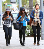 Selena Gomez walked with friends in LA.