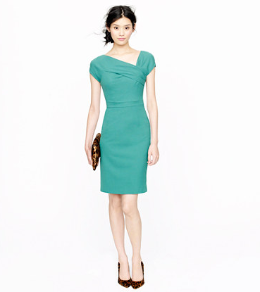 For the classicist (we could see Marni from Girls in this one), you need little else but a great pair of earrings and heels to make this J.Crew Origami Sheath Dress ($198) a date-night winner.