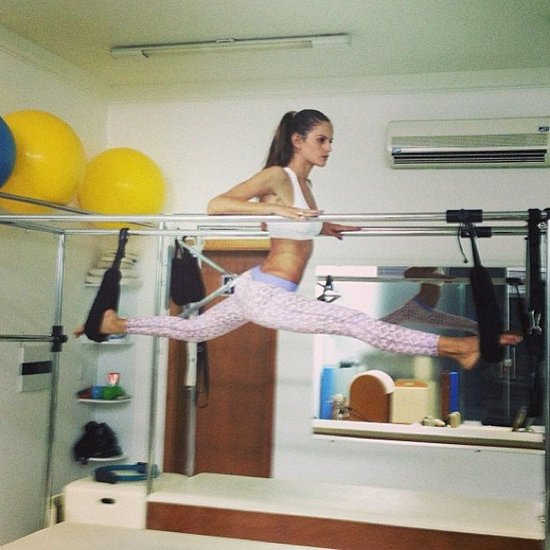 Izabel Goulart shared a photo of her Pilates workout. Source: Instagram user izabel_goulart