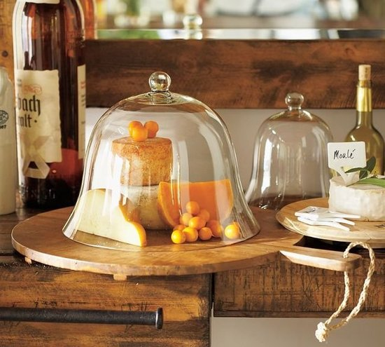 Not only do glass domes ($19-$29) keep foods fresh and clean, but they also add some decorative flair.