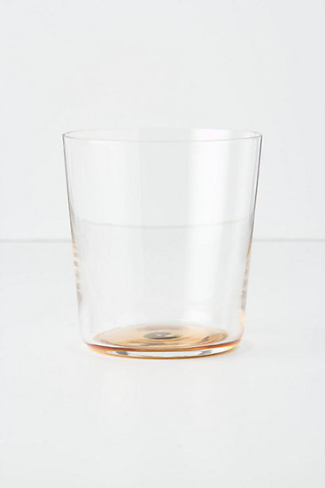 Skip the red Solo Cups and give your guests gold-dipped glassware ($14) instead.