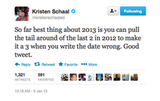 Kristen makes a funny observation about 2013.