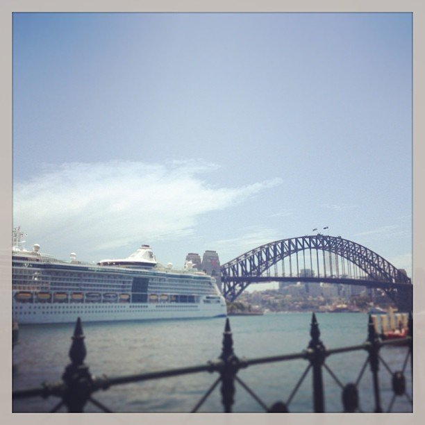 Another day, another cruise ship taking up residence in our beautiful harbour view.