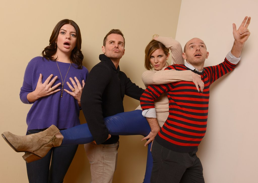 Casey Wilson, director Chris Nelson, June Diane Raphael, and Paul Scheer let loose in their photos for Ass Backwards.