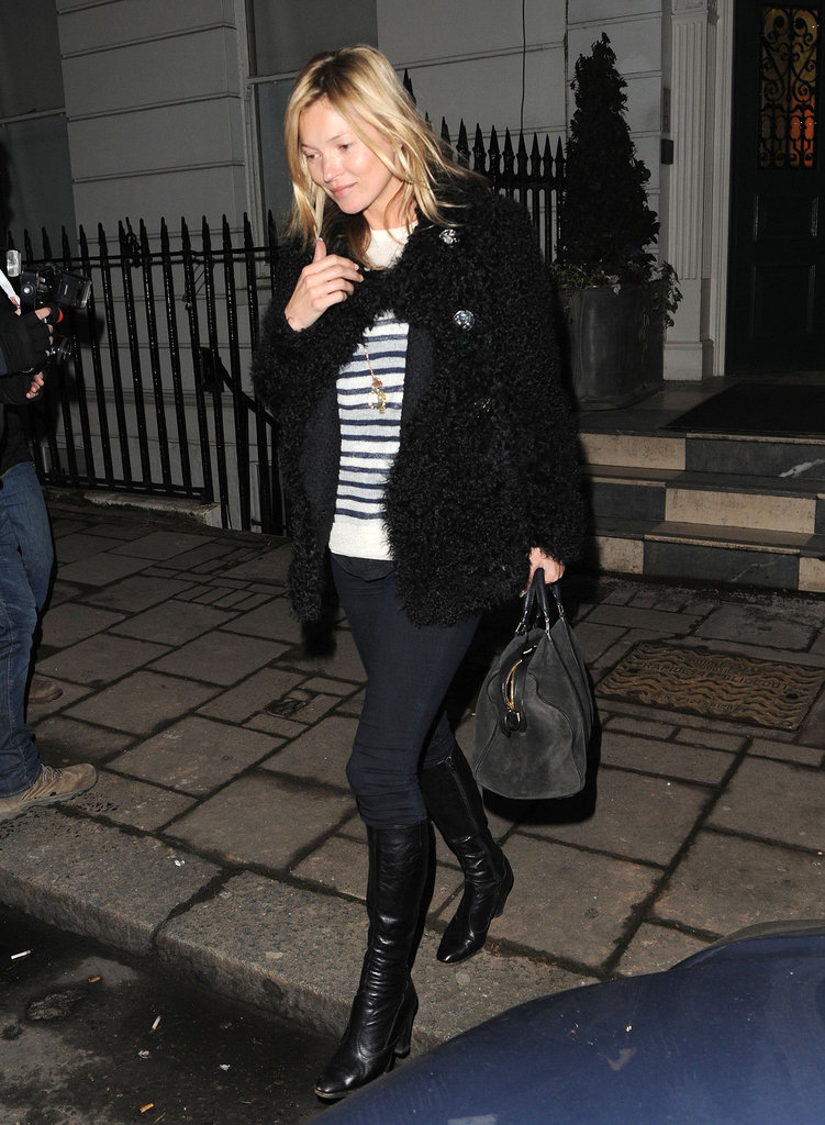 Kate Moss stepped out in London on Thursday.