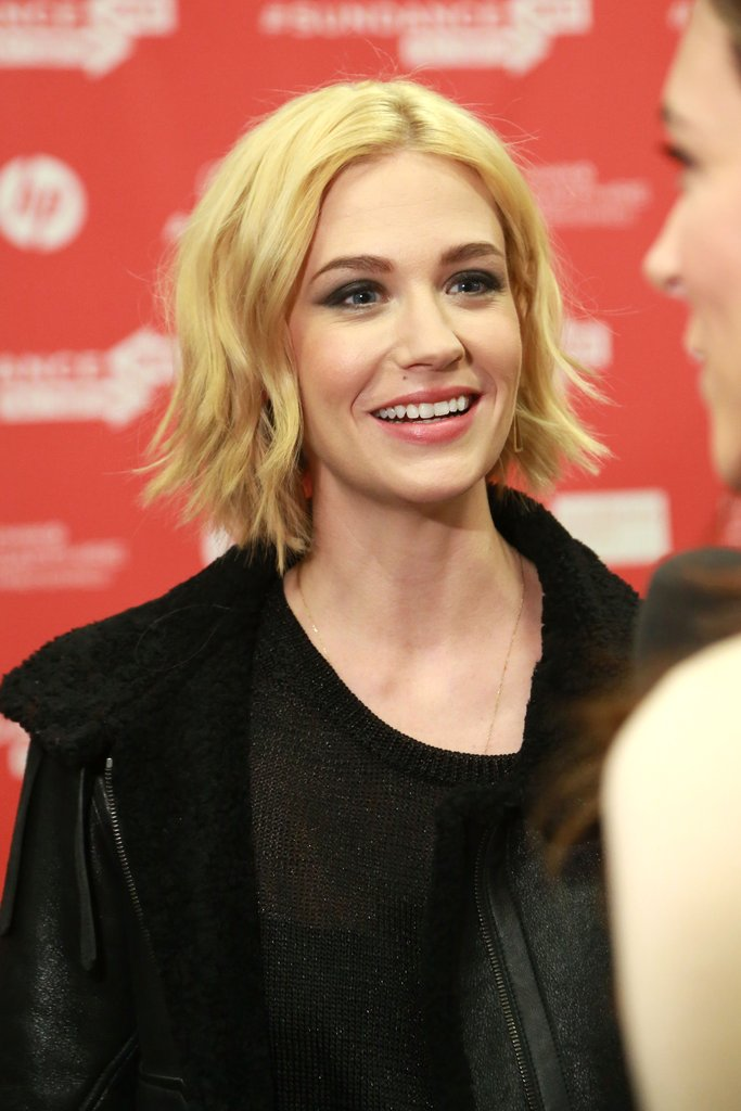 January Jones chatted with the press at the premiere of her newest film, Sweetwater, at Sundance on Thursday.