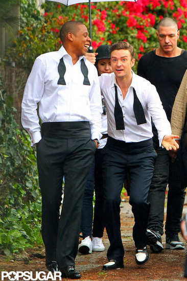 "Jay Z and Justin Timberlake teamed up in late January to film the music video for ""Suit & Tie"" in LA."