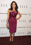 Meghan Markle wore a wine-colored dress to the Elle Women in TV event.