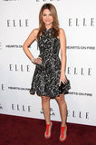 Maria Menounos worked the red carpet at the Elle Women in TV event.