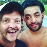 Chris Lilley took a selfie with a friend. Source: Instagram user chrislilley