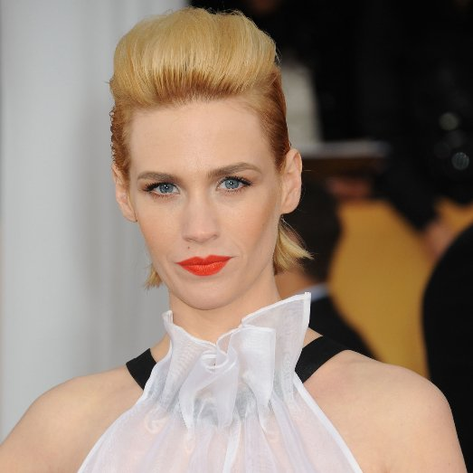 January Jones on Her Blonde, Pink, Brown and Red Hair