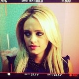 Carly Chaikin shared a shot from an upcoming Suburgatory episode. Source: Instagram user harlyharly