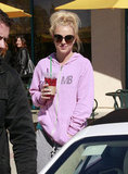 Britney Spears put on a zip-up sweatshirt.