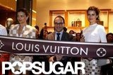 Miranda Kerr helped open the Louis Vuitton boutique in Cancun.