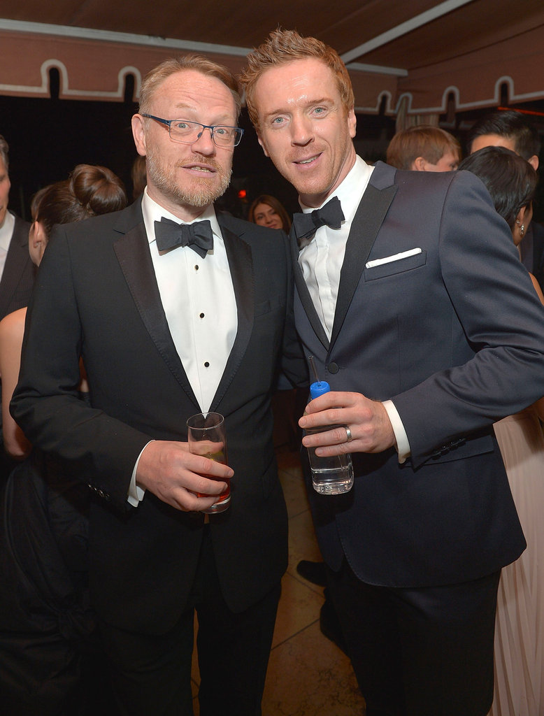 Homeland's Damian Lewis toasted the SAGs with Mad Men's Jared Harris at the Weinstein Company bash.