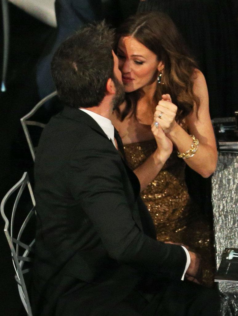 Jennifer kissed Ben after his January 2013 SAG Award win for Argo.