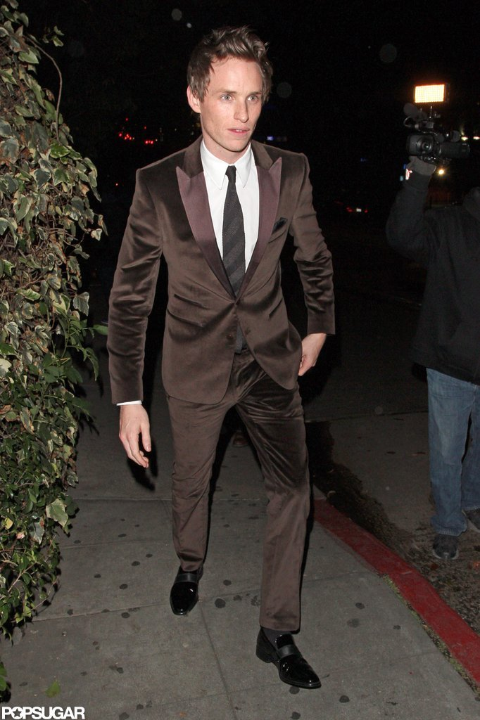 Eddie Redmayne stepped out after the SAG Awards in LA.