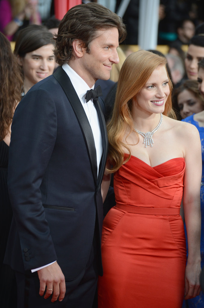 Bradley Cooper and Jessica Chastain posed together at January's SAG Awards.
