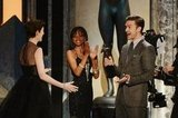 Justin Timberlake presented Anne Hathaway with her SAG Award.
