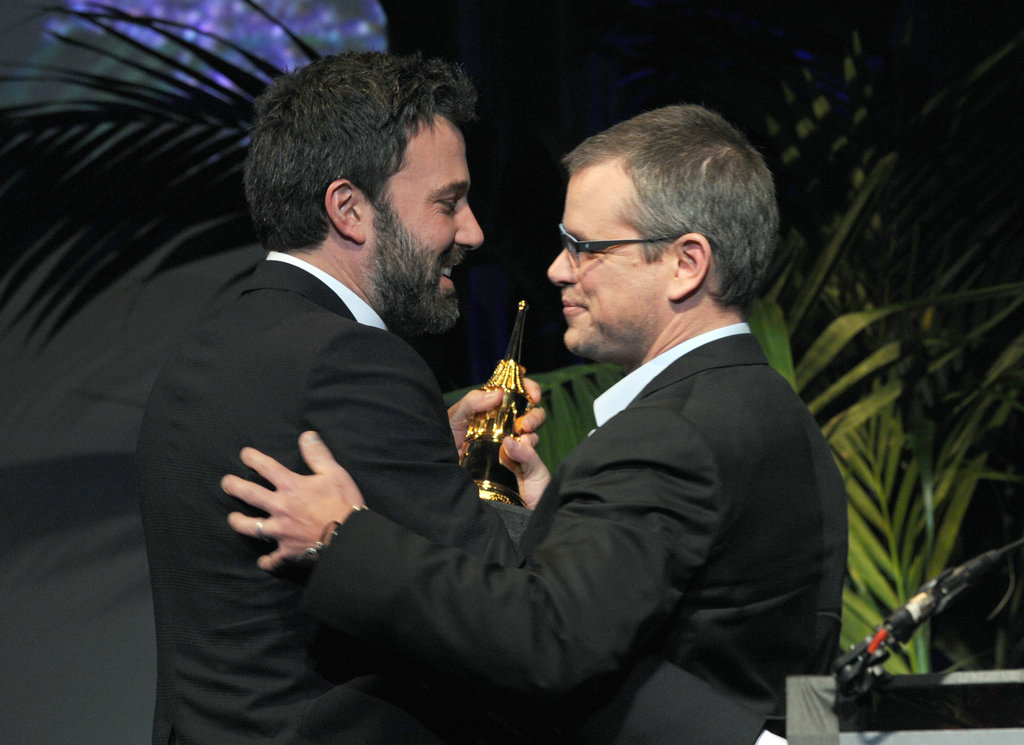 Ben Affleck accepted an honour at the Santa Barbara Film Festival from long-time friend Matt Damon.