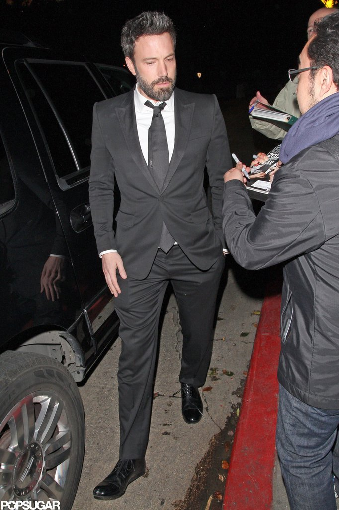 Ben Affleck left the Chateau Marmont after attending a SAG Awards afterparty with his wife, Jennifer Garner.