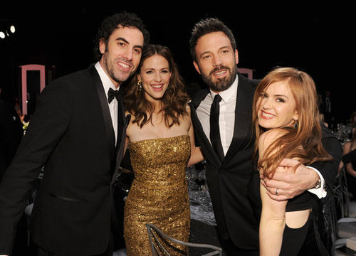 Jennifer Garner and Ben Affleck coupled up with Sacha Baron Cohen and Isla Fisher for a snap at the SAGs.