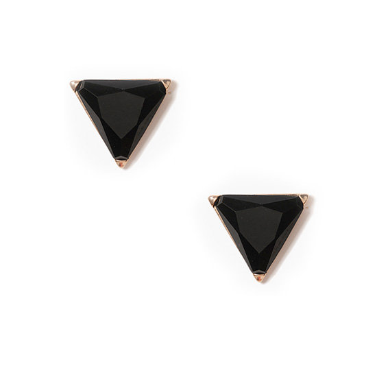 These oversize Forever 21 faceted triangle studs ($4) are the perfect finishing touch to any look.