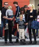 Gwen Stefani and Gavin Rossdale shopped in LA on Sunday with their sons, Zuma Rossdale and Kingston Rossdale.