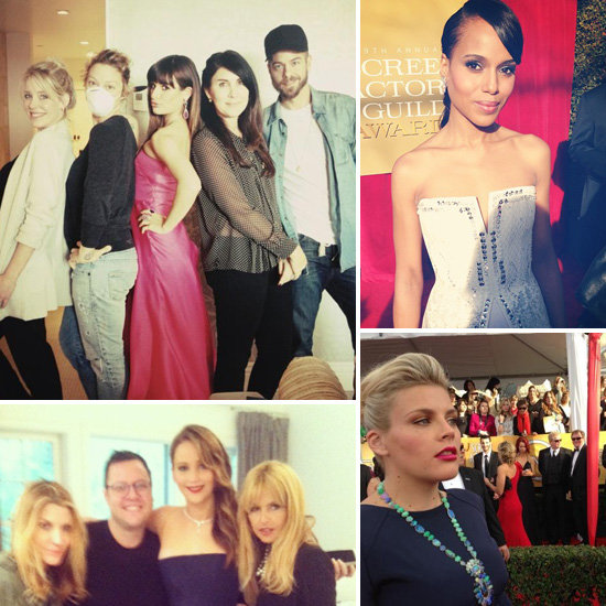 Celebrity Twitter and Instagram Pictures 2013 SAG Awards