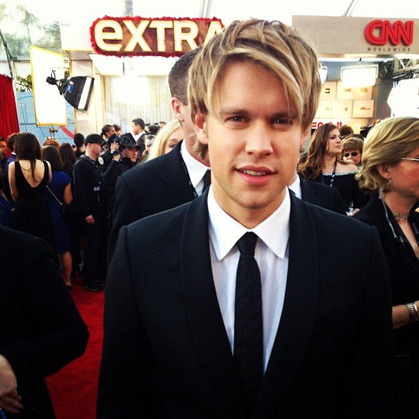Glee's Chord Overstreet suited up for the SAGs. Source: Instagram user sagawards