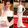Glee's Jayma Mays in  Georges Hobeika Atelierat SAG Awards