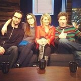 Whitney Cummings welcomed guests Chris D'Elia, Eliza Coupe, and Adam DeVine to her talk show. Source: Instagram user therealwhitney