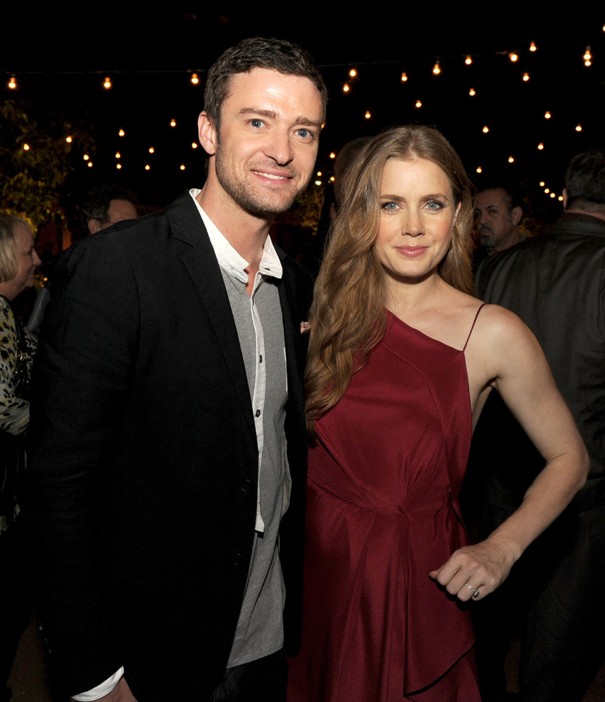 Justin Timberlake and Amy Adams posed together at the afterparty for their film, Trouble With the Curve, in September 2012.