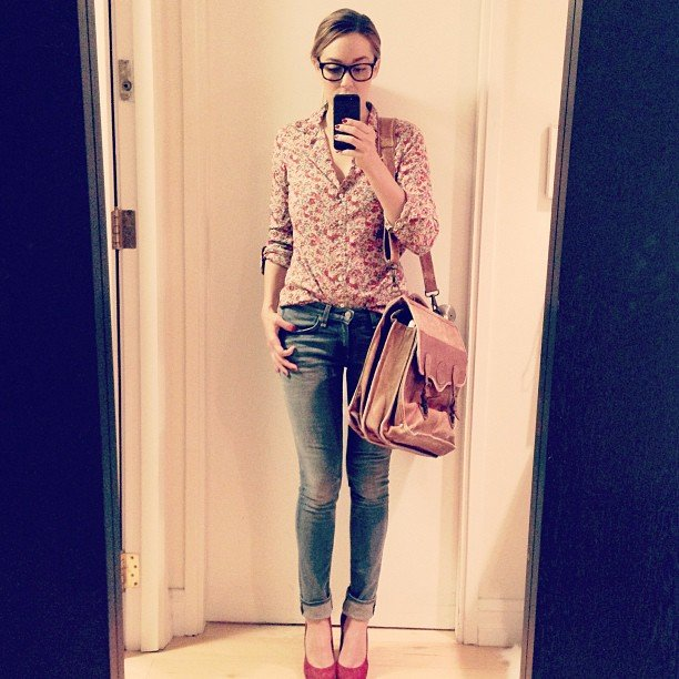 Lauren shared her Christmas present from her dad — his old leather briefcase.  Source: Instagram user laurenconrad