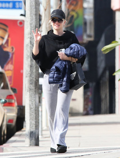 Anna Faris walked down the street in LA.