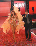 Justin got up close and personal with Gisele Bündchen as he performed at the Victoria's Secret Fashion Show in November 2006.